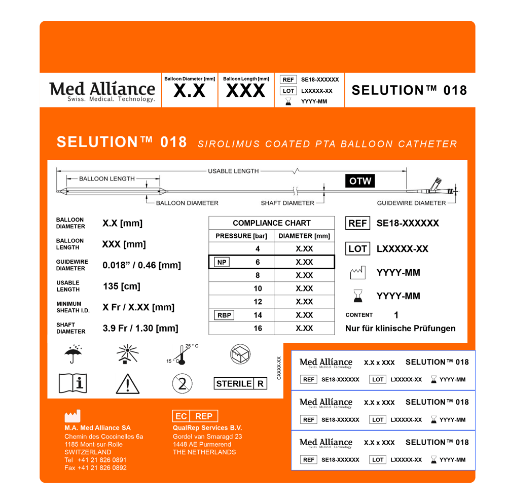 MedAlliance Catheter Label